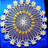 WHAT A SWEET HANDMADE DOILY! LOOK AT ALL THE PRETTY DAISIES! 13 Inches