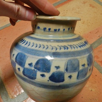 Unknown VERY old Cobalt Vase/Jar - Pottery