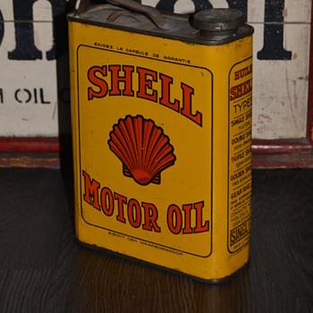 shell oil can  - Petroliana