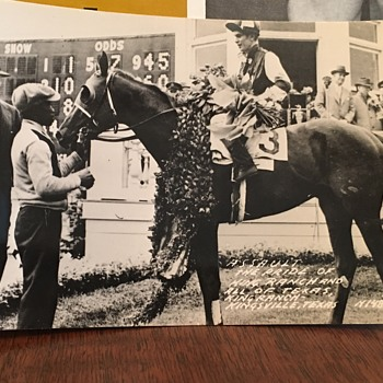 (Assault) King Ranch, Texas Race Horse 1946 Champion Rare Post Card! - Postcards
