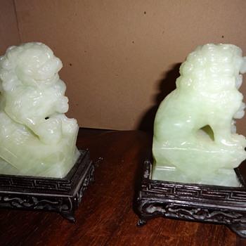 Jade Foo Dogs pair  - Asian