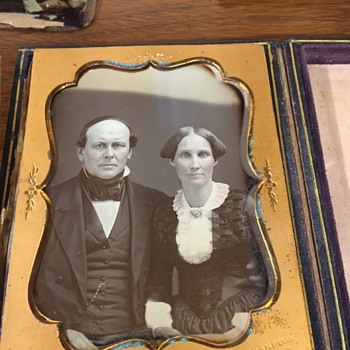 Quarter Plate Dag of Couple J.D. Wells, Northampton, MA - Photographs