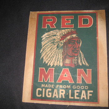 REDMAN TOBACCO SIGN - Tobacciana