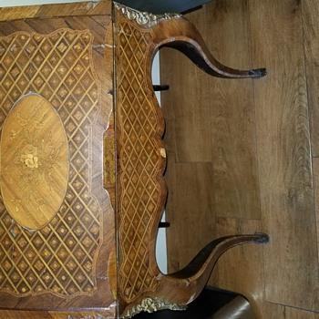 Rosewood inlaid drop front desk - Furniture