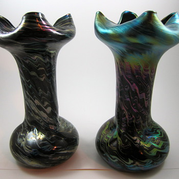 """Rindskopf Striated production variation, or """"Mom always liked you best!"""" - Art Glass"""