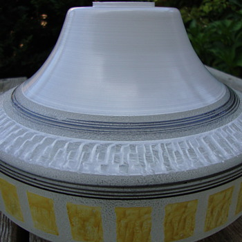 50s glass lamp shade enamel painted - Lamps