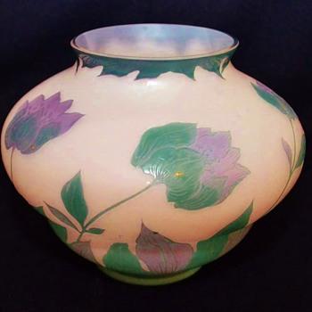 Signed Loetz Cameo Vase. - Art Glass