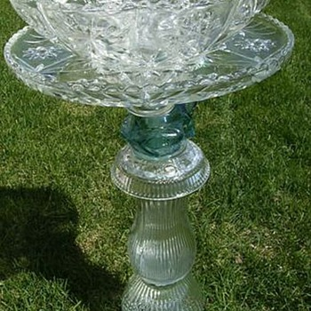 Recycling Glass (not me, bought it....lol) Recycled for Garden Art - Glassware