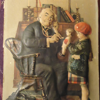 Norman Rockwell litho 3D