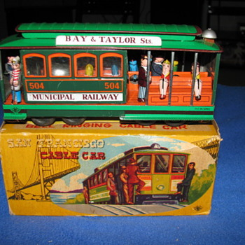 Toy Cable Car with Original Box Japan - Model Cars