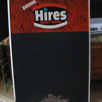 1972 Donasco HIRES Root Beer Tin Menu Board