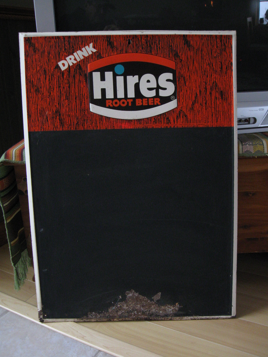 1972 donasco hires root beer tin menu board collectors weekly