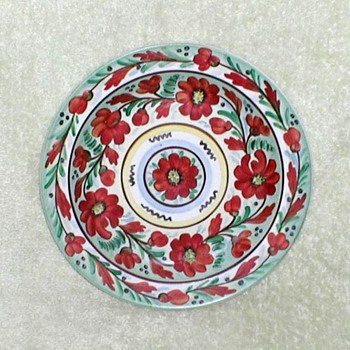 Floral Wall Plate - Brazil - China and Dinnerware
