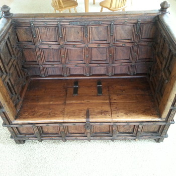 Antique bench with storage - Furniture