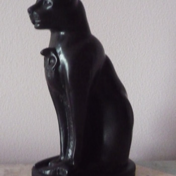 Egyptian Cat Statue, maybe bookends? - Animals