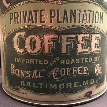 Cooleemee Coffee tin - Advertising