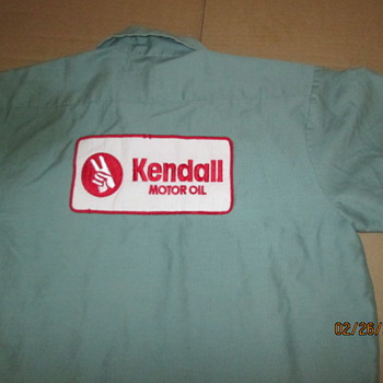 KENDALL Motor Oil Service Mens Shirt -Chicago Union Made Sz M - Mens Clothing