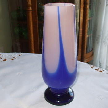 Unusual shape & colours KRALIK Pulled Decor VASE - Art Glass