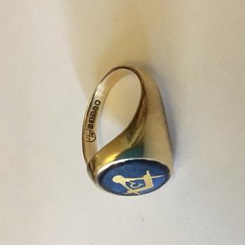 Gold Masonic ring maker mark ID.. - Fine Jewelry