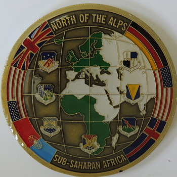 Third Air Force - North of the Alps - Sub-Saharan Africa  - Challenge Coin