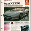 Hot Cars Card - Jaguar XJ220