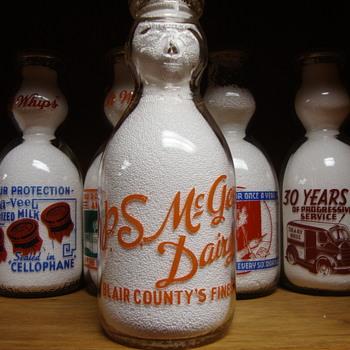 P. S. McGEE DAIRY...BLAIR COUNTY'S FINEST (PENNSYLVANIA) COP THE CREAM MILK BOTTLE - Bottles
