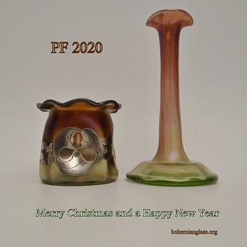 Merry Christmas and a Happy New Year - Art Glass