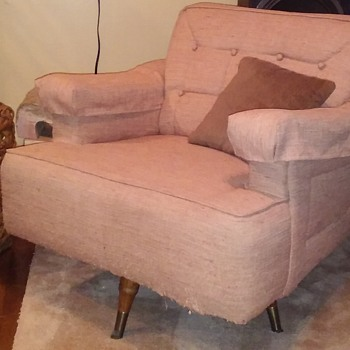 1957 upholstered swivel-rocker chair - Furniture