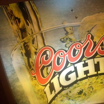 """26 x 26"""" coors light sign"""