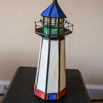 Stained Glass Lighthouse Night Light. - Lamps