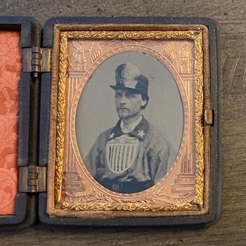 Civil War era fireman tintype - Firefighting