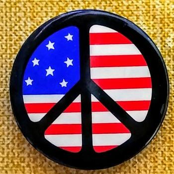 1965 Peace Flag button (c)1965 Larry Fox - Politics