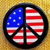 1965 Peace Flag button (c)1965 Larry Fox