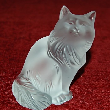 "Lalique ""Heggie"" Cat - Art Glass"