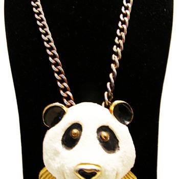 Vintage Razza Large Panda Necklace