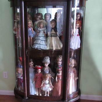 Antique Curio Cabinet Larkin Co. 1900s? - Furniture