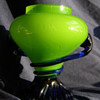 Green Tango vase with cobal blue - Made in Czecoslovakia