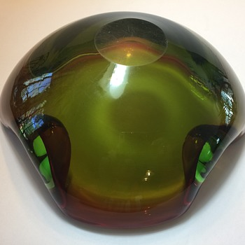 Huge heavy art glass bowl - Art Glass
