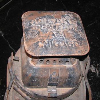 Adlake Non Sweating Lamp Chicago - Railroadiana