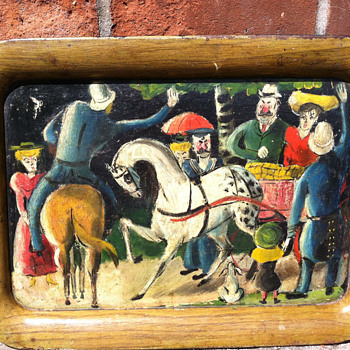 Hand painted tray - Fine Art