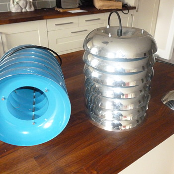 Vintage Chrome Beehive Ceiling Lights - Lamps