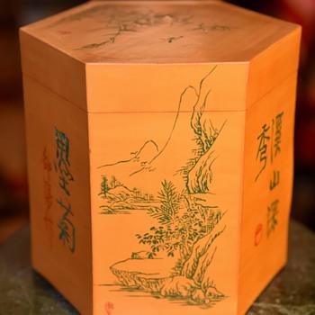 Unusual Veneered Chinese Box - Asian