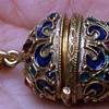Unusual high detailed jeweled Russian style egg