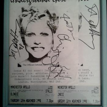 My Blondie Autographs :) - Music Memorabilia