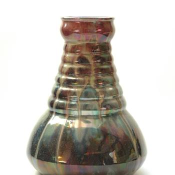 french art deco pottery vase by LEON ELCHINGER - Art Deco