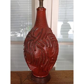 Mid Century Pottery Lamp