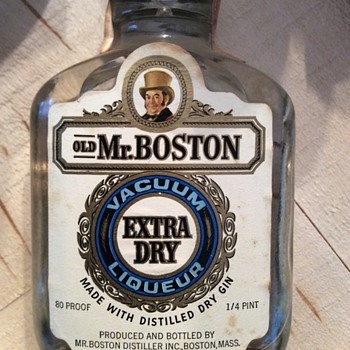 Vintage liquor bottle collection