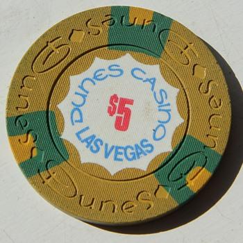 Dunes Casino Poker Chip $5