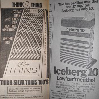 Vintage cigarette ads - Tobacciana