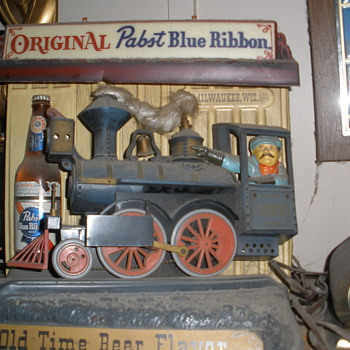 Pabst Blue Ribbon Train  - Breweriana